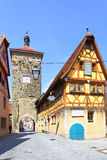 Old street in Rothenburg Stock Photography
