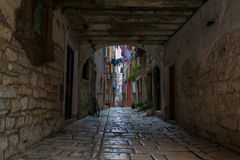 Old Street in Rovinj Stock Photos
