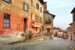 Old street. Saluzzo, Italy. Stock Image