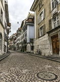 Old street in Solothurn, Switzerland Royalty Free Stock Image