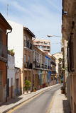 Old street in spanish city. Alicante Royalty Free Stock Photo