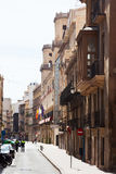 Old street in spanish city. Alicante Stock Images