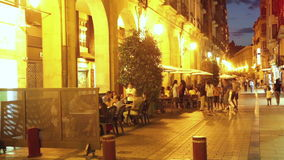 Old  street  in spanish city.  Logrono stock video footage