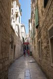 Old Street in Split. Croatia. Croatia - Split in Dalmatia. Old town street Stock Photo