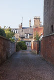 Old street in St Andrews, Scotland, UK stock photography