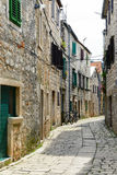Old street in Stari Grad, Croatia Royalty Free Stock Photography