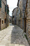 Old street in Stari Grad, Croatia Royalty Free Stock Photos