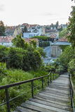 Old street steps in Zagreb stock image