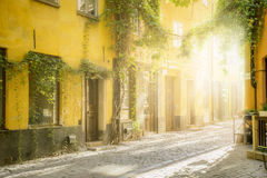 Old street in Stockholm Royalty Free Stock Images