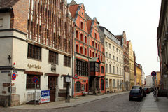 Old street in Stralsund royalty free stock photos