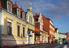 Old street in Swiecie. Poland Stock Images
