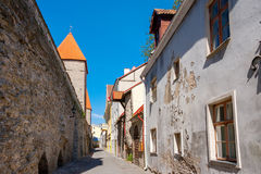 Old street. Tallinn, Estonia Royalty Free Stock Photos