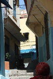 Old street in tangier city. Old Medina  street Royalty Free Stock Images