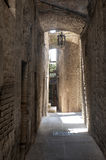 Old street of Todi Stock Photography