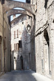 Old street of Todi Royalty Free Stock Images