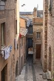 Old street of Todi, Umbria Royalty Free Stock Photography