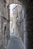 Old street of Todi, Umbria Stock Photos