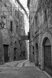 Old street of Todi, Umbria Royalty Free Stock Images