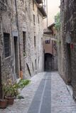 Old street of Todi, Umbria Stock Photo