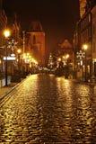 Old street in Torun.  Poland Royalty Free Stock Photo