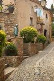 Old street in Tossa de Mar. Old street in Spain Royalty Free Stock Photo