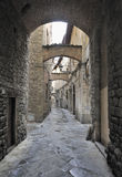 Old street in the town of Pistoia, Italy Royalty Free Stock Images