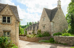 Old street with traditional cottages in Bibury. Stock Photo