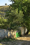 Old street in Trebujeni. Moldova Royalty Free Stock Photo