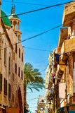 Old street in Tripoli, Lebanon. Lebanon architecture stock photography