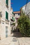 Old Street in Trogir. Croatia. Croatia - Trogir in Dalmatia. Old town street Stock Image