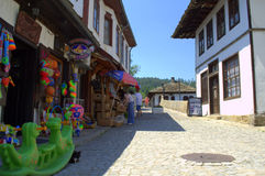 Old street in Tryavna town,Bulgaria Stock Images