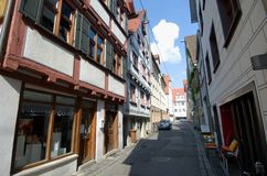 Old street in Ulm Royalty Free Stock Photos