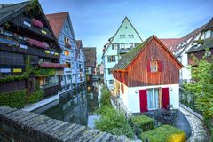 Street in Ulm, Germany. Old street in Ulm, Germany Stock Photos
