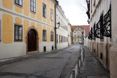 Old street in Upper Town of Zagreb Stock Images