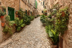 Old street in Valldemossa Royalty Free Stock Images