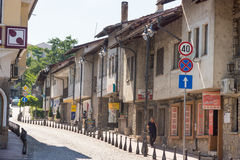 Old street in Veliko Tarnovo Royalty Free Stock Images
