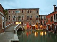 Old street in Venice. Veneto. Italy Royalty Free Stock Photo