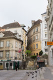 Old street in Vienna city, Austria Stock Photo
