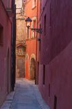 Old street view, Italy. View of Little narrow street with lantern, Italy Stock Images