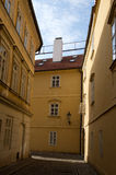 Old street. View of old street in Prague royalty free stock images
