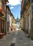 Old street in Vila Nova de Cerveira Royalty Free Stock Photo