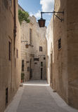 Old street in village omn malta Royalty Free Stock Image