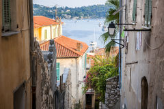 Old street in Villefranche-sur-Mer Stock Photos