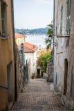 Old street in Villefranche-sur-Mer Stock Image