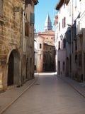 Old street in Vodnjan stock photo
