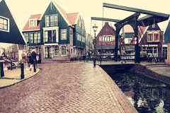 Old street in Volendam Stock Photography