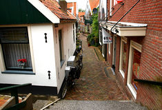 Old street in Volendam Royalty Free Stock Image