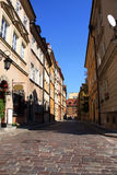 Old street in Warsaw. With the buildings Royalty Free Stock Photography