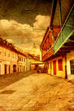 Old street in Zagreb Stock Images