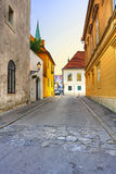 Old street in Zagreb Stock Image